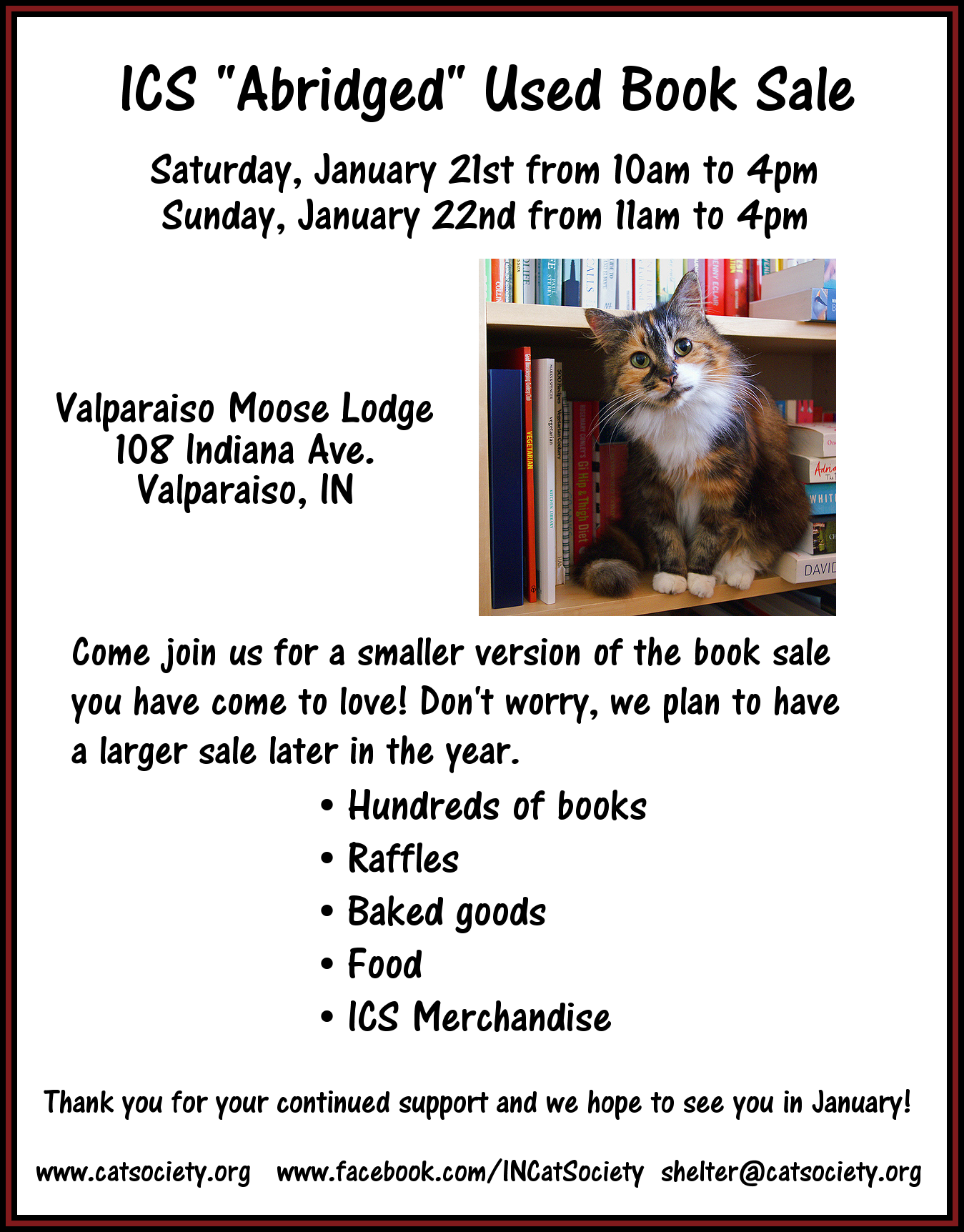 ICS Abridged Used Book Sale